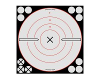 Birchwood Casey Shoot-N-C White/Black Bullseye X Targets & Pasters, 8 inch, 6ct