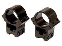 AirForce 1 inch Rings, High, 9.5-13.5mm Dovetail, See-Thru
