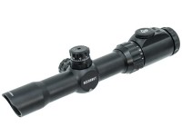 Leapers UTG Accushot 1-8x28 Multi-Range CQB Rifle Scope, EZ-TAP, Illuminated Mil-Dot Reticle, 1/2 MOA, 30mm Tube