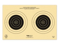 Kruger NRA 50 yd Smallbore Rifle Target, 14 inchx9 inch, 2 Bulls/Sheet, 100ct