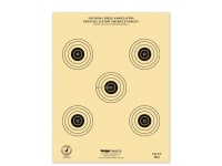Kruger NRA 25 ft Air Rifle Target, 7 inchx9 inch, 5 Bulls/Sheet, 100ct