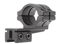 BKL Single 1 inch Double Strap Offset Ring, 3/8 inch or 11mm Dovetail, 1 inch Long, Medium, Black