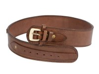 Western Justice Gun Belt, 36-40 inch Waist, .38-Cal Loops, 2.5 inch Wide, Chocolate Leather