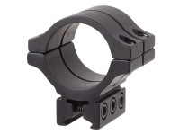 BKL Single 30mm Double Strap Ring, 3/8 inch or 11mm Dovetail, 1.263 inch Long, Low, Black
