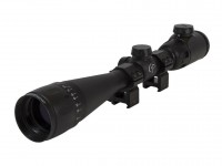 CenterPoint 4-16x40 AO Rifle Scope, Illuminated TAG-Style Reticle, 1 inch Tube, Picatinny Rings