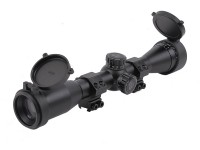 Leapers UTG 4x32 AO True Hunter Rifle Scope, Mil-Dot Reticle, 1/4 MOA, 1 inch Tube, 11mm Dovetail Rings