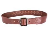 Western Justice Gun Belt, 37-44 inch Waist, 20 Cartridge Loops, 2 inch Width, Mahogany