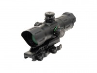 "UTG 1x39 6"" ITA Red/Green CQB Target Dot Sight, 1/2 MOA, Offset Quick-Detach Mount"
