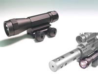 Leapers Xenon Flashlight, 95 Lumens, Integral Weaver Mount, Pressure Switch & Battery