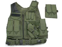 UTG Airsoft Deluxe Tactical Vest, OD Green