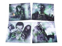 Black Ops Zombie Targets, 4 Different Images, 20ct