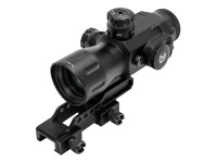 UTG Primsatic 4x32 T4 Rifle Scope, 36-Color, Mil-Dot Reticle, 1/4 MOA, 24mm Tube