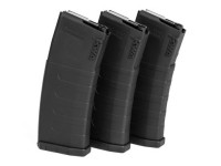 KWA K120C Adjustable ERG/AEG2.5/AEG3 Mid-Cap Airsoft Rifle Magazine, Black, 3ct