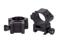 UTG Leapers Premium 1 inch Rings, Medium, Weaver Mount, See-Thru