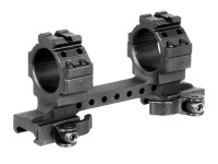 Refurbished Leapers UTG 1-Pc Mount, 30mm Rings, High, 130mm Base, 2 Top Slots, Weaver/Picatinny Mount