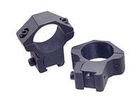Leapers Accushot 1 inch Rings, Medium, 3/8 inch Dovetail, 2 Screws/Cap