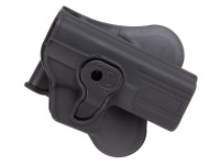 ASG/Strike Systems Paddle Polymer Holster for G17, G19, 23, & M-22 Air & Airsoft Pistols, Black