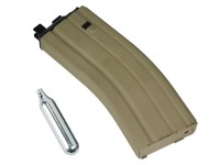 WE MIL4 / MK15  30rd Tan CO2 Airsoft Magazine,