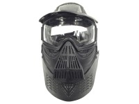 Jag Bravo Airsoft Full Face Mask with Poly Lens, Black