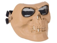 JAG Precision Bravo Tac Gear Skull Mesh Airsoft Mask, Tan