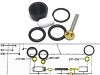 Pyramyd Air Benjamin & Sheridan Repair Kit, Fits Some Post-1995 Multi-Pumps w/Cartridge Valve