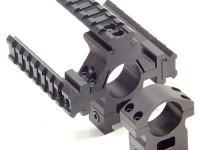 UTG Deluxe 1 inch Rings, Medium, Weaver w/Picatinny Tri-Rail, See-Thru