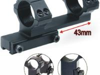 UTG Leapers Accushot 1-Pc Bi-directional Offset Mount w/30mm Rings, High, 11mm Dovetail