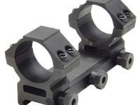 UTG Leapers 1-Pc Mount w/30mm Rings, Medium, Weaver Mount, See-Thru