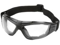 Radians 4-in-1 Foam-Lined Airsoft Safety Glasses, Clear Lenses, Removable Strap & Temples