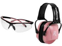Radians Remington NRR 22 Earmuffs & Safety Glasses Combo, Pink