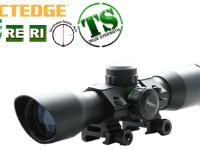Leapers 5th Gen 4x32 Compact Mini CQB Rifle Scope, Illuminated Mil-Dot Reticle, 1/4 MOA, 1 inch Tube, Weaver Rings