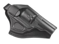WinGun TSD Leather Pistol Holster, Fits 2.5 inch & 4 inch CO2 Revolvers, Black, Right-Hand