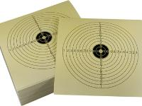 Tech Force Paper Rifle Targets, Bullseye, 5.5 inchx5.5 inch, 100ct