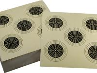Tech Force Paper Pistol Targets, 5 Bullseyes, 5.5 inchx5.5 inch, 100ct