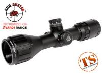 UTG 3-9x32 AO Compact CQB Bug Buster Rifle Scope, Illuminated Mil-Dot Reticle, 1/4 MOA, 1 inch Tube, Medium Max Strength Lever Lock Weaver Rings