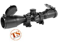 UTG Leapers 3-12X44 AO SWAT Compact Accushot Rifle Scope, EZ-TAP, Illuminated Mil-Dot Reticle, 1/4 MOA, 30mm Tube, See-Thru Weaver Rings
