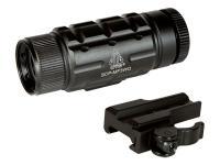 UTG 3x Tactical Dot Sight Magnifier, Quick-Detach Weaver/Picatinny Mount, Riser