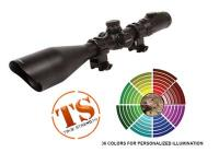 UTG Accushot 4-16x56 AO Rifle Scope, SWAT, EZ-TAP, Illuminated Etched-Glass Mil-Dot Reticle, 1/8 MOA, 30mm Tube, Twist-