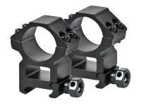UTG Leapers Premium 1 inch Rings, High, Weaver Mount, See-Thru