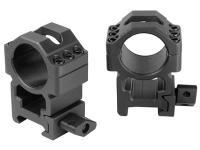 UTG 1 inch Max Strength Quick Lock Rings, High, Weaver/Picatinny, 6 Hex Screws Per Ring Cap, See-thru