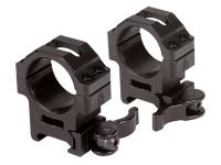 UTG 30mm Quick-Detach Rings, Medium, Weaver/Picatinny, See-Thru, Compact, Law-Enforcement Grade