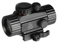 UTG 1x30mm Compact ITA Red/Green Circle Dot Sight, 1/2 MOA, Integral Quick-Detach Weaver/Picatinny Mount