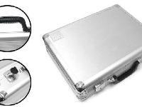 Plano Large Aluminum Pistol Case -Silver