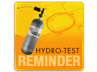 Air Venturi Hydro-Test Reminder - Scuba and Carbon Fiber Tanks