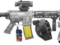 Crosman Clear Airsoft R70 Rifle, P50 Pistol Kit Airsoft gun