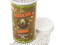 GameFace Game Face Verdict 6mm Biodegradable Marking Airsoft BBs, 0.25g, 2200 rds, White