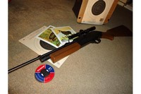 Crosman 760  - Outfitted with a Crosman 4x15 riflescope.