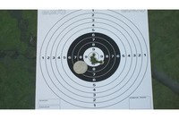 50 ft - 10 shots 50 ft cover with a dime