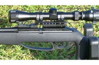 With full 3x9 scope - Full size scope with UTG rail adapter from PYRAMYD AIR