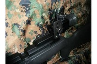 AF sight - Here is the other side view that shows how much verticle hight adjustment there is.  I have this set up with the AF Front sight for the edge.